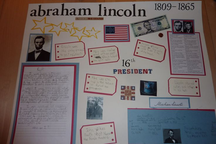 images of presentation boards for kids | ... on abraham lincoln the kids are supposed to research their character