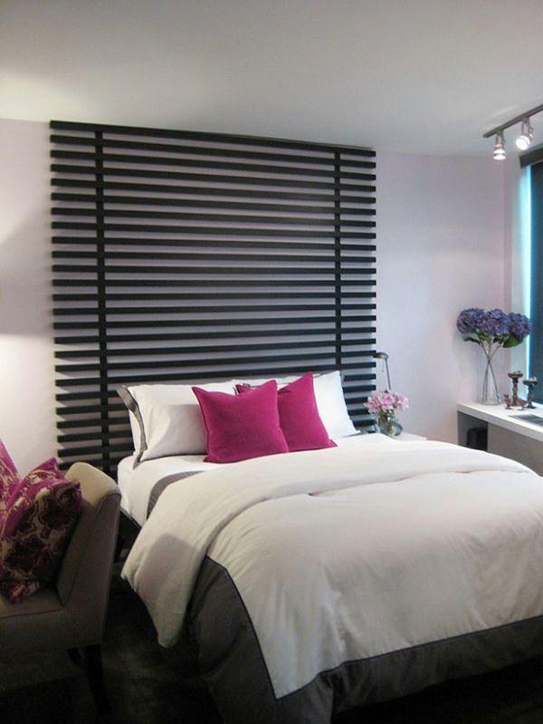 schlafzimmer gestalten bett kopfteil schöne ideen diy