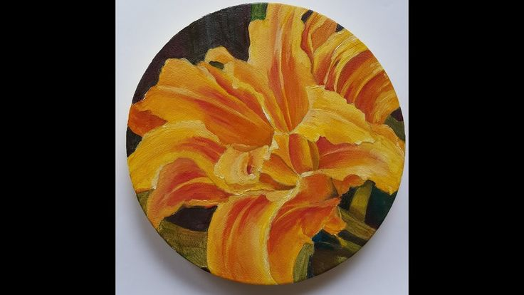 Timelapse: Oil Painting of Gold Lily
