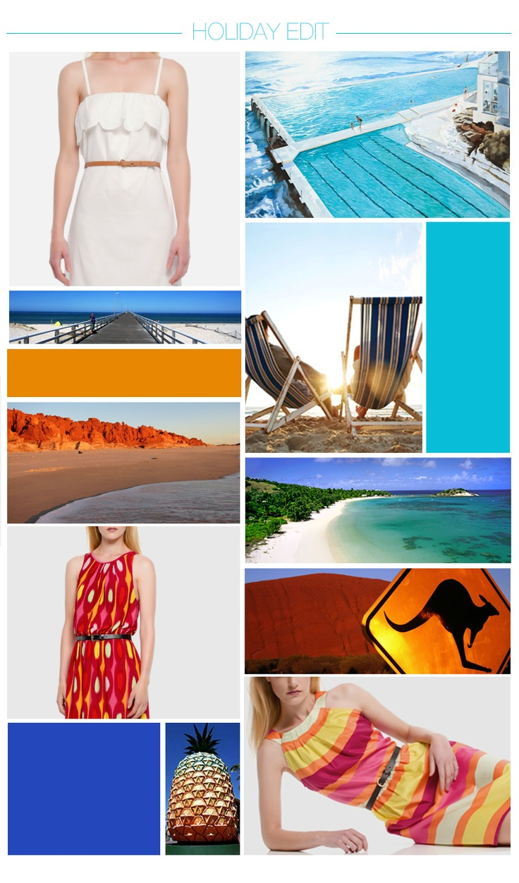 Howard Showers Holiday Edit: A Land Downunder. Everyone at Howard Showers HQ had such a fabulous time during the Christmas holiday break that we decided to feature some of Australia's iconic holiday destinations. From relaxing by the pool at bondi to visiting the big pineapple or going further into the outback. To top it off our holiday romancing we have some great summer bargains to be found, visit us online for a further 25% off already reduced prices!