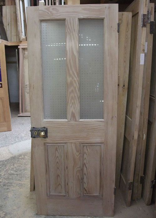 Half Glazed Interior Pitch Pine Door- I'd like our doors to be like this