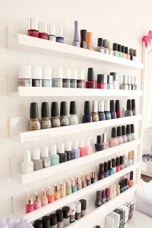 1000 ideas about nail polish racks on pinterest nail polish storage organize nail polish and. Black Bedroom Furniture Sets. Home Design Ideas