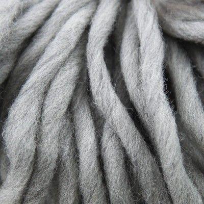 Grey wool yarn