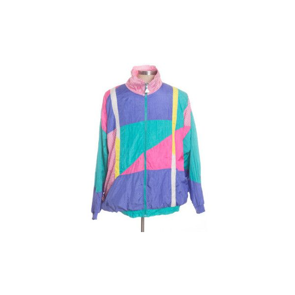 90s Jackets ❤ liked on Polyvore featuring outerwear, jackets, tops, coats, blue windbreaker jacket, retro windbreaker, 80s windbreaker, blue jackets and wind jacket