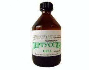 Сироп Пертуссин Взрослые – 1 столовая ложка препарата на 1 применение. Три раза в день