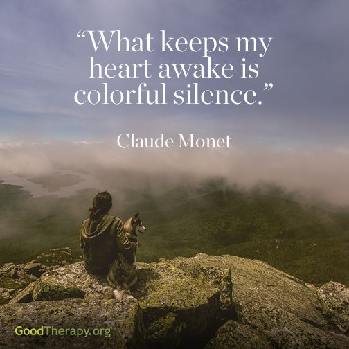 """""""What keeps my heart awake is colorful silence."""" - Claude Monet What keeps your heart awake? :)"""
