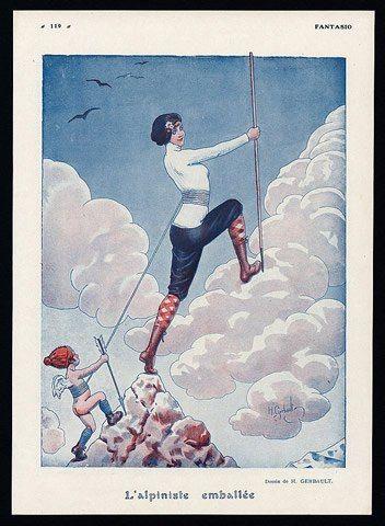 Gerbault 1916 ''L'Alpiniste Emballée'' Climber, Women In Sports