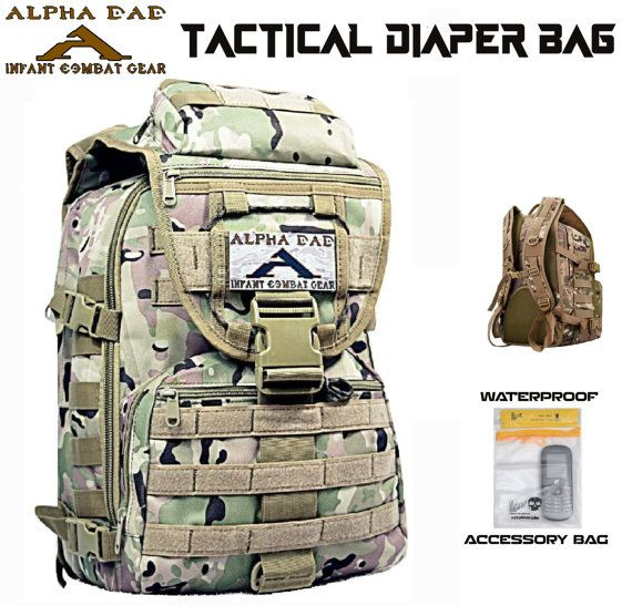 CUSTOM Camo DAddY DiaPeR BaG ALPHA DAD Tactical by CYCLONEXGEAR
