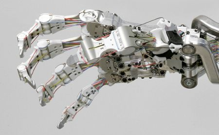 this is an image of a real robot hand