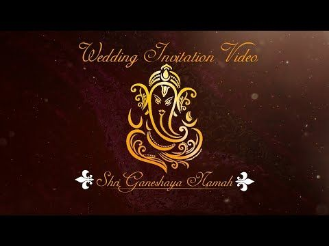 Digital Indian Wedding Invitation Video Free Blank Template Downl Indian Wedding Invitation Cards Digital Wedding Invitations Wedding Invitation Background
