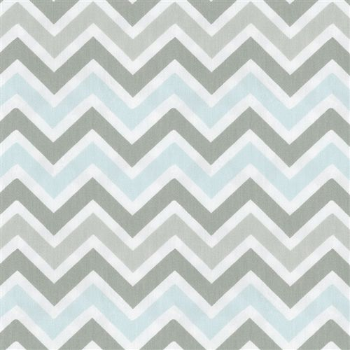 Mist and Gray Chevron Fabric by the Yard | Carousel Designs 500x500 image = Chair upholstery