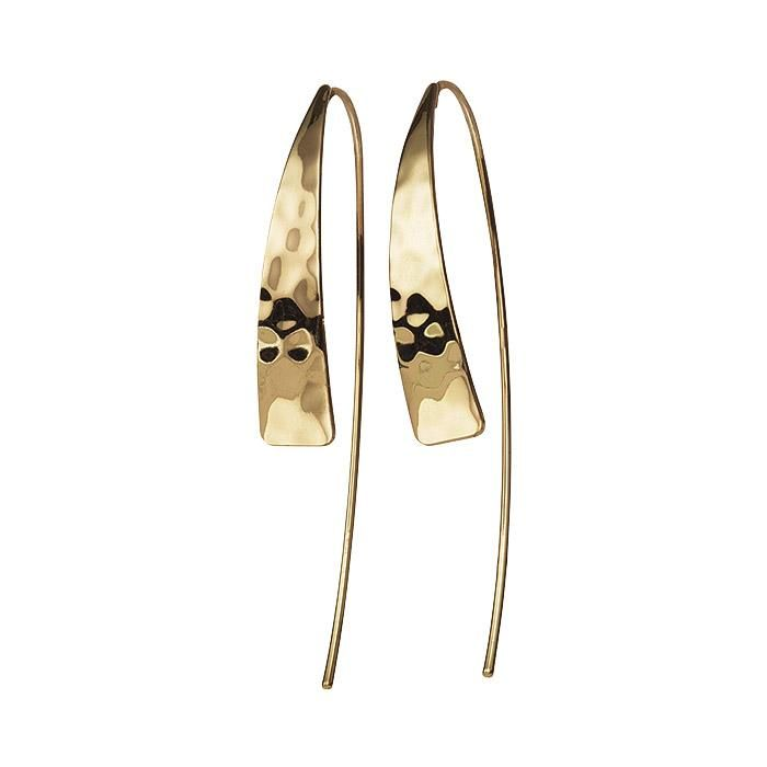 Linear and Round Crystal Gold Tone Earrings Set Triangle
