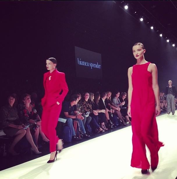 Day Two: Lady in red #BiancaSpender @David Jones Store @Vogue Australia #lmffnow