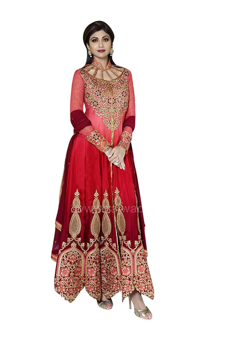 17 best images about bollywood fashion on pinterest for Wedding dress material online