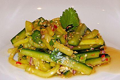 Koreanischer Gurkensalat, ein tolles Rezept aus der Kategorie Gemüse. Bewertungen: 23. Durchschnitt: Ø 4,2.
