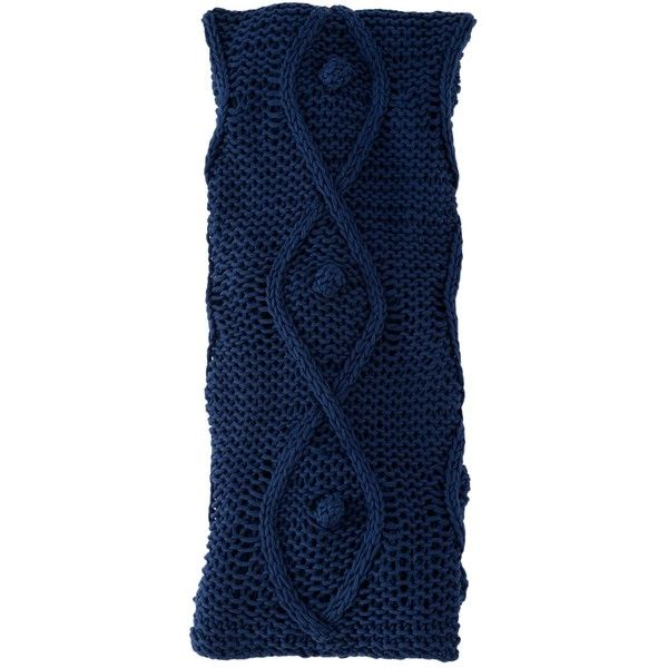 Shiraleah Portico Throw - Navy (180 TND) ❤ liked on Polyvore featuring home, bed & bath, bedding, blankets, no color, knit bedding, navy blanket, dark blue throw blanket, navy throw blanket and dark blue throw