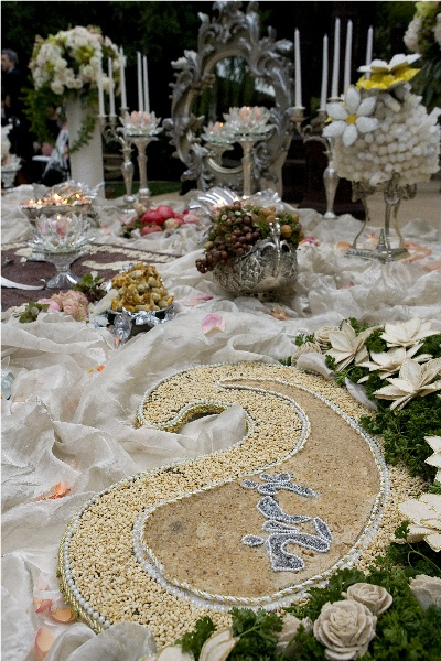 154 best sofreh aghd images on pinterest for Persian wedding ceremony table