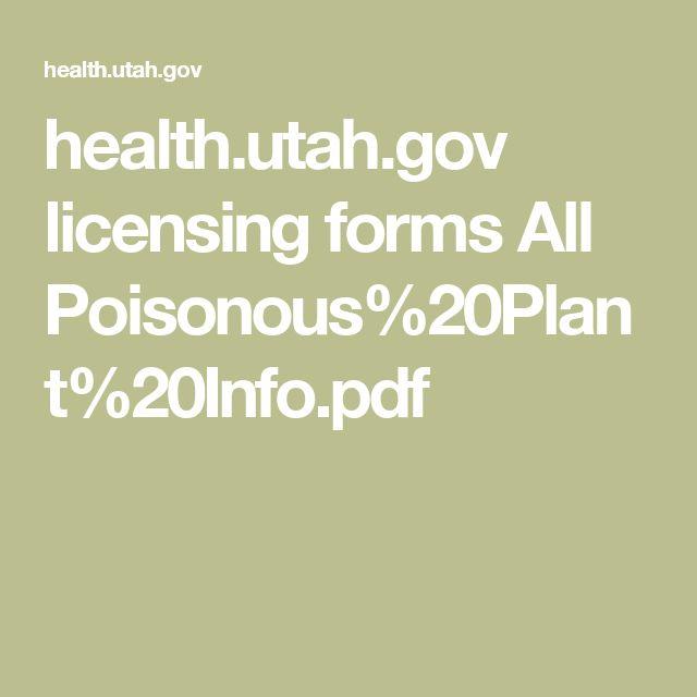 health.utah.gov licensing forms All Poisonous%20Plant%20Info.pdf