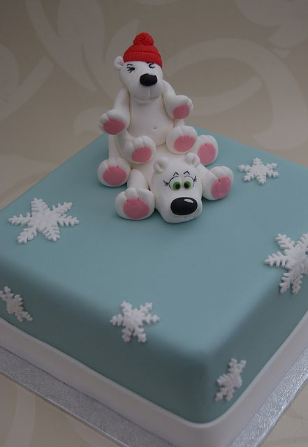Polar Bears Christmas Cake by Cakes by Occasion, via Flickr