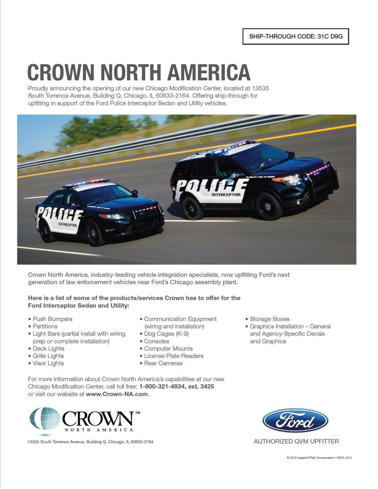 316 best images about ford emergency response ship through for ford police vehicle equipment upfits crown north america industry