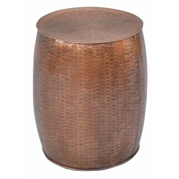 Waverly Iron Side Table in Copper - 35cm