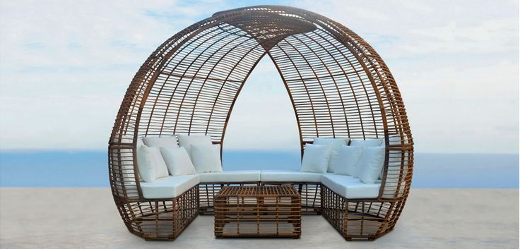 PHOTO TWO: Zaiko furniture made from synthetic rattan, a unique design which would be more budget affective