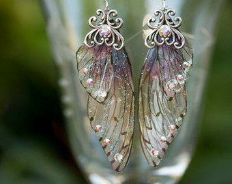 Zilveren Alseïden Fairy vleugel oorbellen door fairystitchfactory