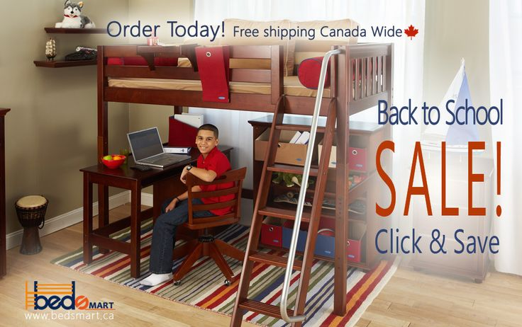 Getting ready for the New School Year? check out all the Maxtrix Loft Beds with Study Desks.  You can see Maxtrix Furniture and all BEDSMART Kids Furniture on www.bedsmart.ca  Maxtrix Loft & Bunk Beds are modular and can be reconfigured by adding/removing attachments.