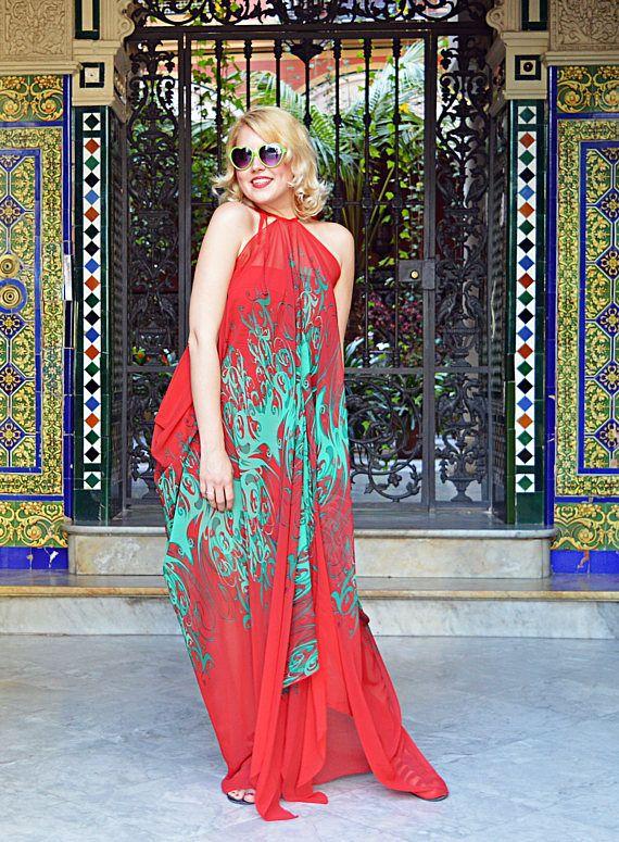 Extravagant Summer Kaftan Red Patterned Maxi Dress Handmade https://www.etsy.com/listing/519878116/extravagant-summer-kaftan-red-patterned?utm_campaign=crowdfire&utm_content=crowdfire&utm_medium=social&utm_source=pinterest