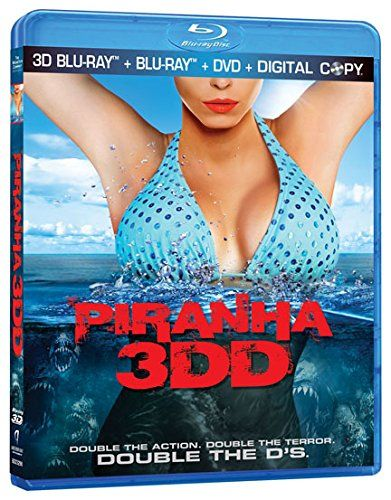 Piranha 3DD A sequel to the 2010 film Piranha 3D $11.97 on Amazon: Blue-ray Starring Danielle Panabaker, Matt Bush, David Koechner, Chris Zylka, Katrina Bowden, Gary Busey, Christopher Lloyd and David Hasselhoff.