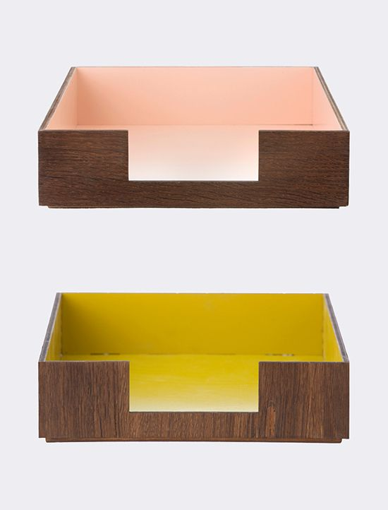 colorful letter trays