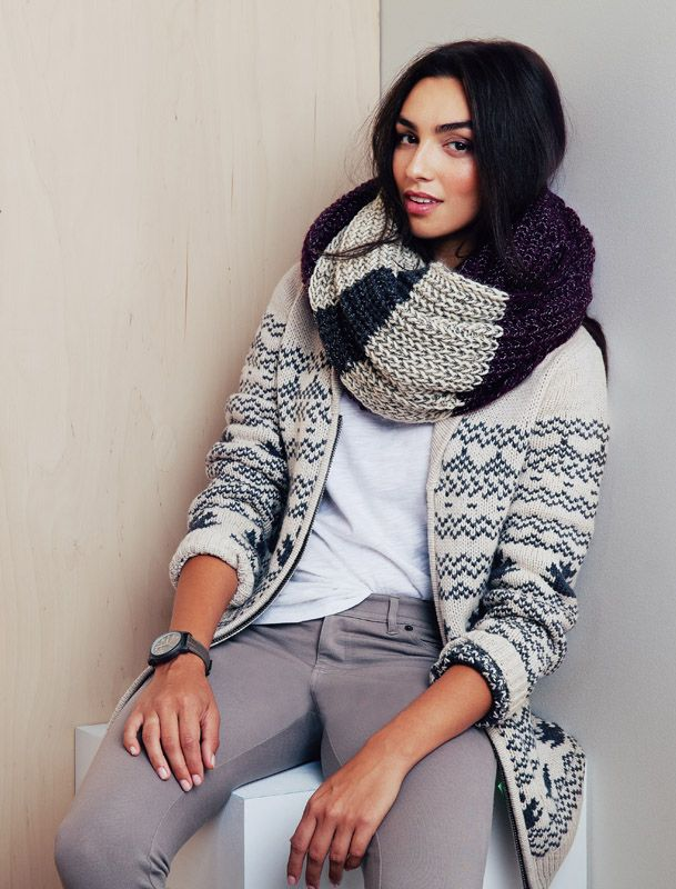 Our Chunky Cabin Infinity Scarf - thick knit, slightly oversized, and just as warm as it looks.