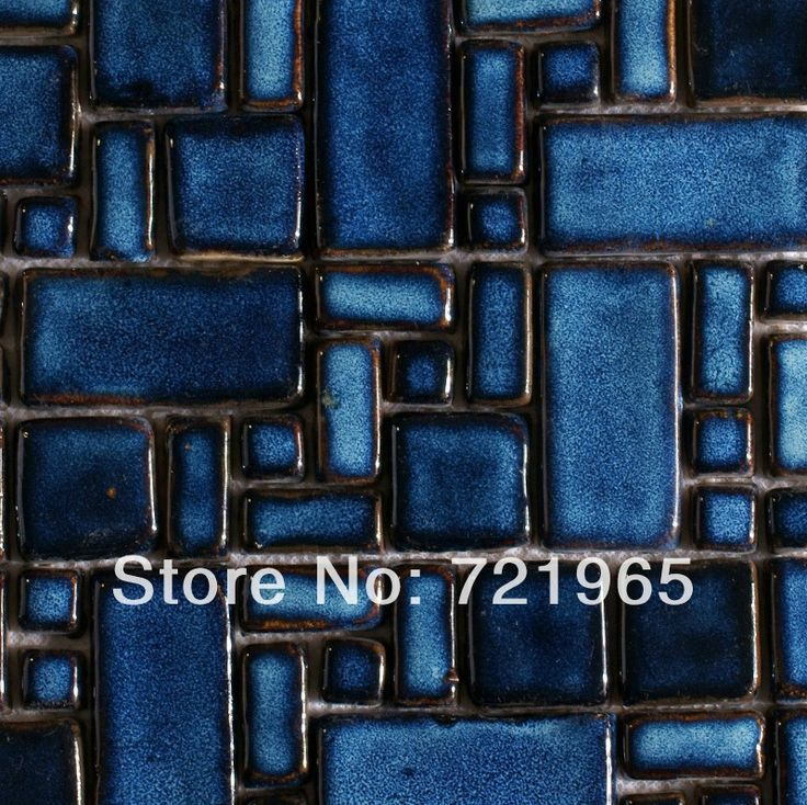 Hand Craft blue porcelain mosaic swimming pool tile PCMT068 ceramic porcelain mosaic kitchen backsplash tiles bathroom wall tile-in Mosaics ...