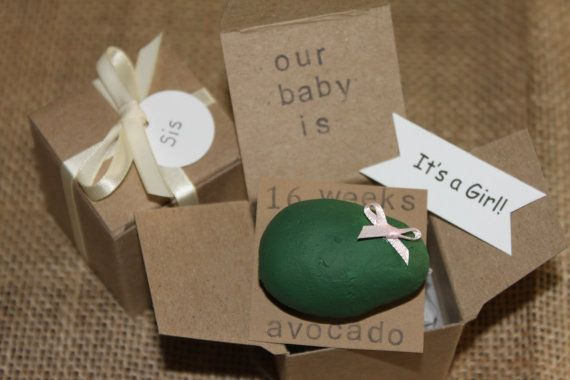 16 week Pregnancy Announcements and Gender Reveal, How Big Is My Baby, Gender Reveals, Baby Size on Etsy, $12.99