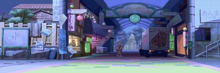 Street Fighter Alpha 3, Sakura alternative (Karin version) stage.