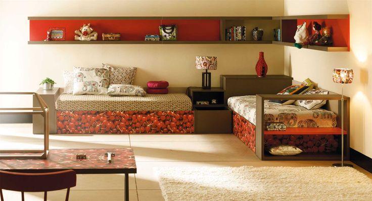 Life box 23. Dormitorio juvenil con dos camas arcon