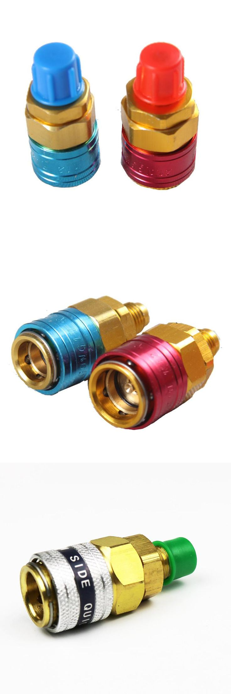 [Visit to Buy] 1 Pair Freon R134A H/L Auto Car Quick