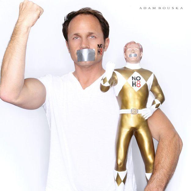 David Yost | 56 Awesome NOH8 Celebrity Portraits