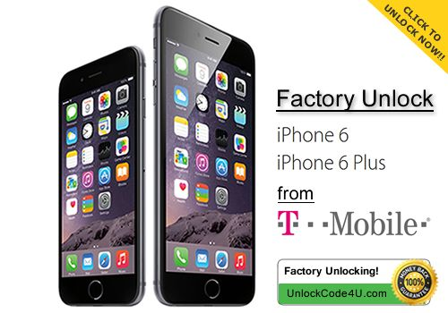 How to unlock Apple iPhone 6 and iPhone 6 Plus locked to T-mobile https://www.unlockcode4u.com/en/unlock-Apple/iPhone-6  https://www.unlockcode4u.com/en/unlock-Apple/iPhone-6-Plus