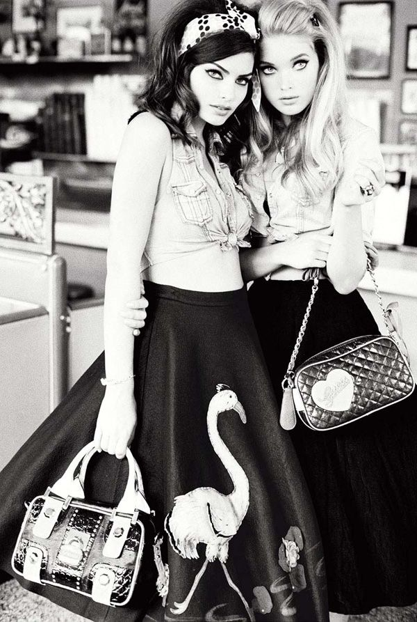 alyssa miller & elsa hosk // by ellen von unwerth // for guess