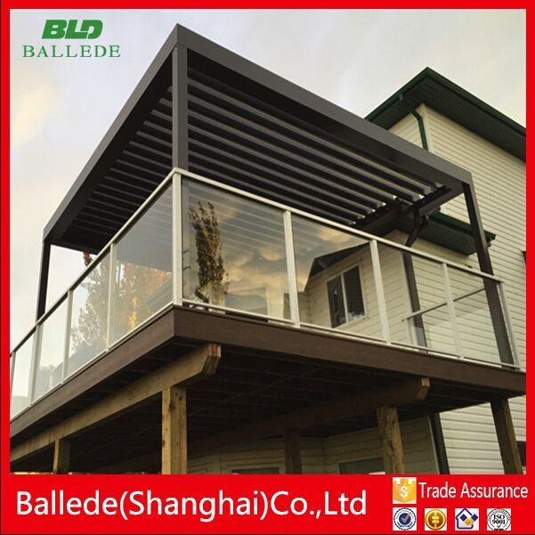 External Outdoor Aluminum Pergola Roof Louver