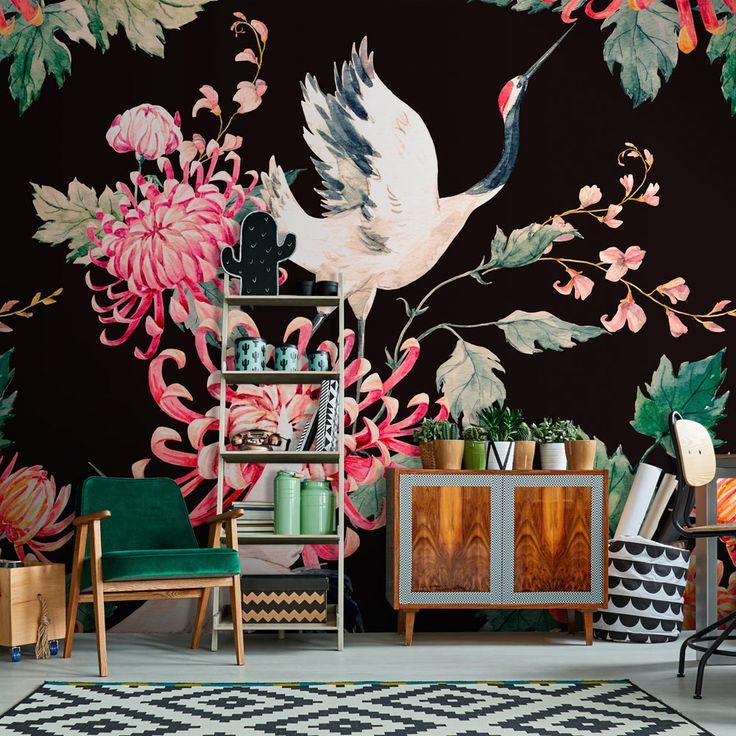 Décoration murale exotique - Tendance 2018 - papier peint tropical ultra tendance qui ajoutera une belle touche de gaieté et couleur à votre déco.