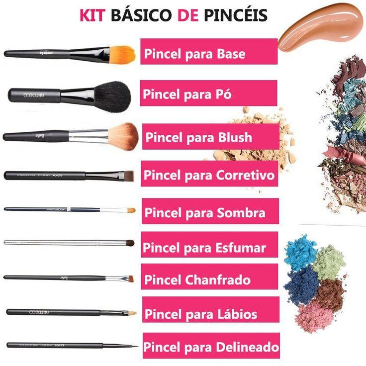 Como montar um Kit Básico de Pincéis de Maquiagem