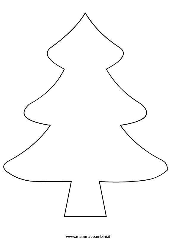 Sagoma albero di Natale per lavoretti in natale disegni da colorare 2