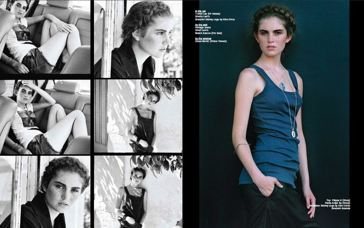 Beginner's Luck necklaces (antique poker chips set in sterling silver) in this editorial by Sissi Souvatzoglou for Ozon Magazine, Sept. 2009