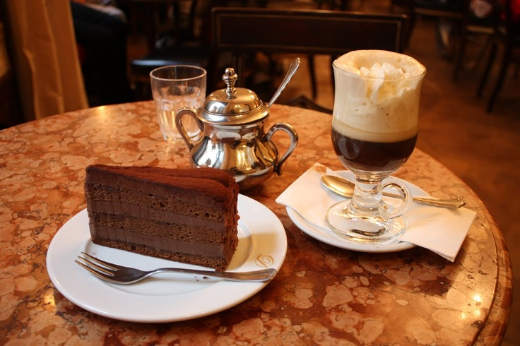 12 Countries in 12 Months: Vienna Tour: luscious chocolate cake and coffee with Merisi at Cafe Demel in Vienna