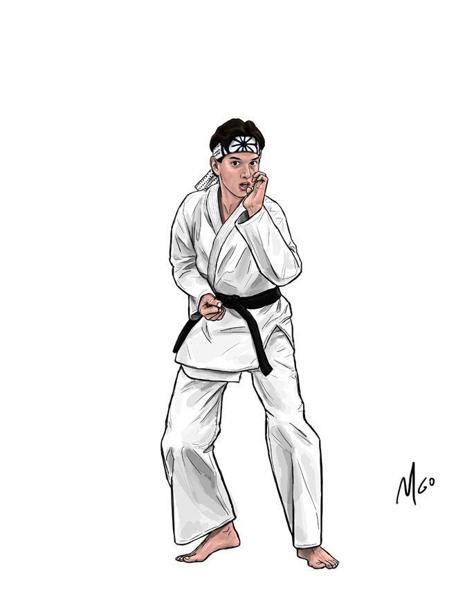 Page 01b The Karate Kid Cast Of Characters Illustrated By Marten Go Karate Kid Karate Kid Cobra Kai Kid Cobra