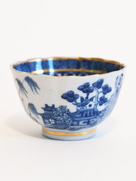 Worcester 18th Century Chinese Tea Bowl from the Trelawny family estate, please visit our website www.temperleycollectables.co.uk