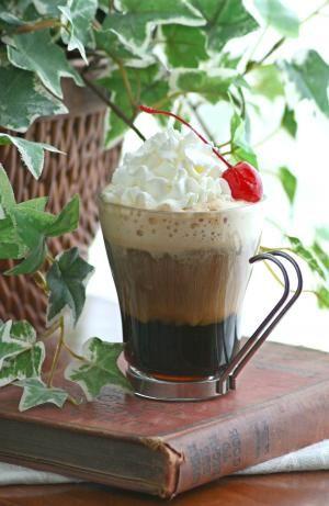 Spanish Coffee With Tia Maria, rum, coffee, whipped cream