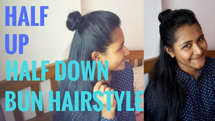 Half up half down Bun Hairstyle | Hairstyle for college | Trending hairs...